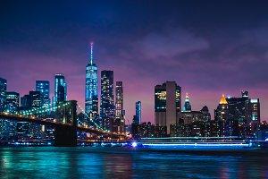 Skyline of downtown New York City