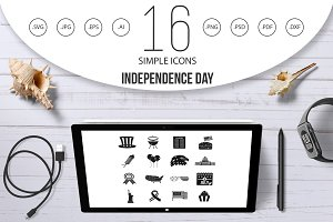 Independence day flag icons set