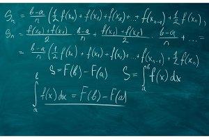 Math formulas written school board