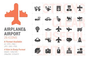 Airplane & Transport Filled Icon