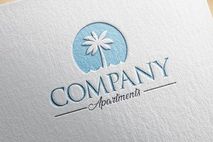 Beach resort logo design