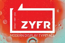 ZYFR - VINTAGE/MODERN DISPLAY FONT by  in Sans Serif Fonts