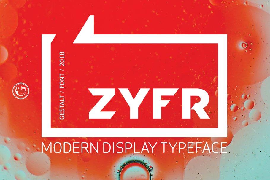 ZYFR - VINTAGE/MODERN DISPLAY FONT
