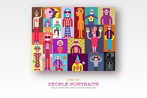 People, set vector illustrations