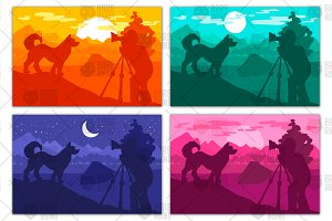 Photographer photographs dog