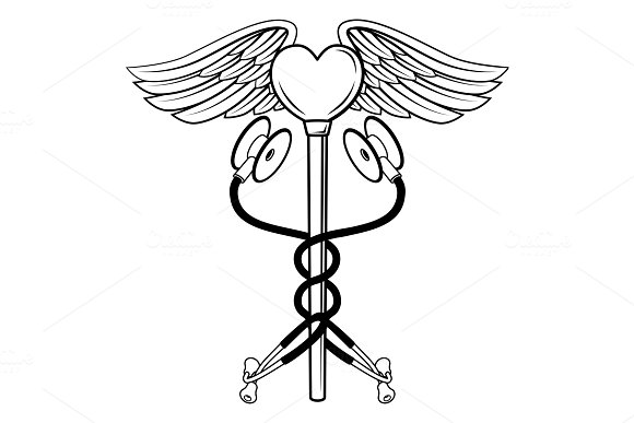 Heart Caduceus Stethoscope Medical in Illustrations