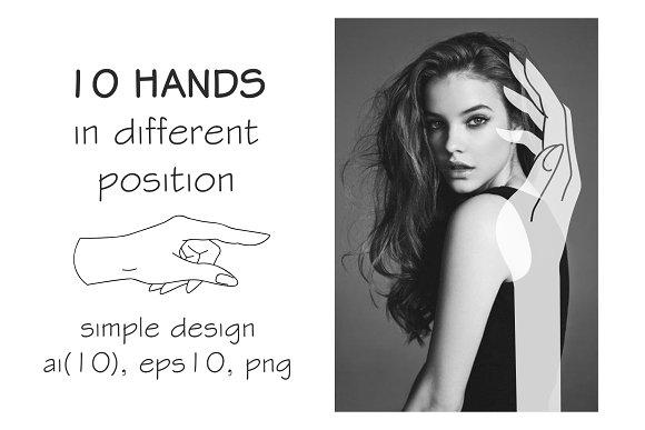 10 HANDS in simple design