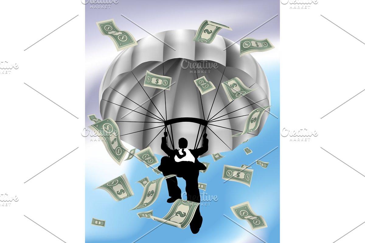 Parachuting Cash Silhouette Business