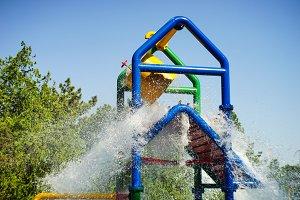 Summer kids water park