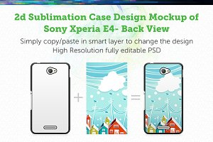 Sony Xperia E4 2d Mock-up