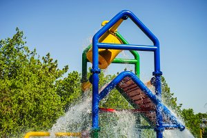 Summer kids water park