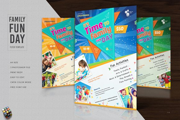 family fun day flyer template flyer templates creative daddy