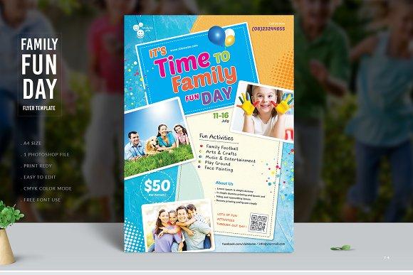 family fun day flyer flyer templates creative market