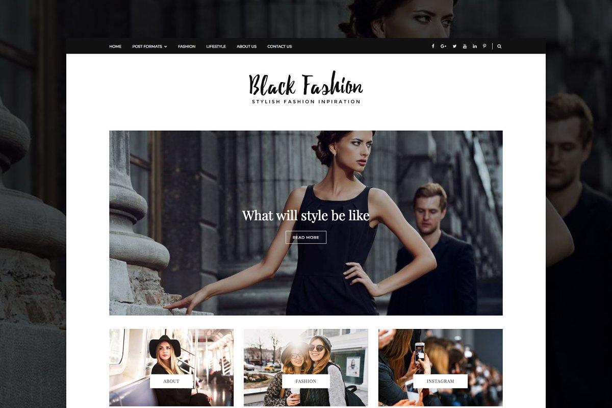 Black Fashion - WordPress Blog Theme