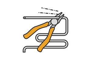 Nippers, pincers, tongs, pliers icon