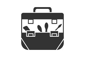 Tool bag glyph icon