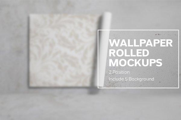 Wallpaper Rolled Mockups