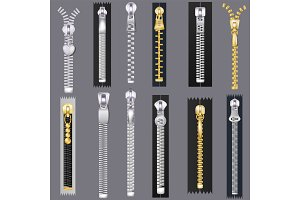 Zipper vector zip slide-fastener for