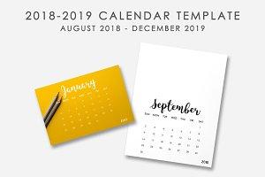 2018-2019 Calendar Template