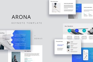 ARONA - Keynote Template + 20 Photos