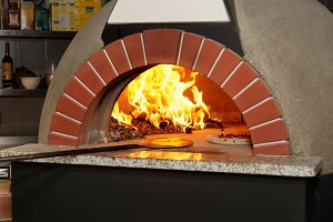 Italian wood-fired pizza oven