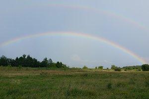Two bright rainbow