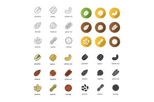 Spices icons set