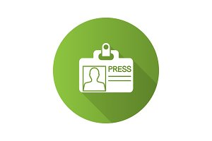 Press ID card icon