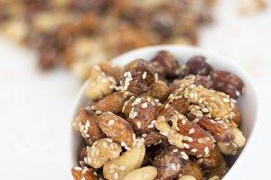 Assortment of nuts. Cashew, hazelnut