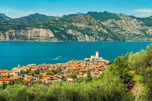 Famous Malcesine tourist resort
