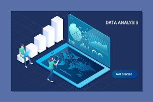 Data analysis. Business, Technology