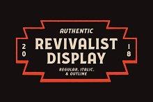 Revivalist Display by  in Display Fonts