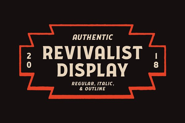 Display Fonts: Good Craft Supply Co. - Revivalist Display