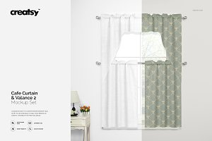 Valance & Cafe Curtains Mockup Set 2