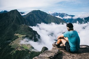 Runner enjoying Peru nature view