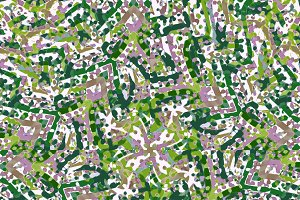 Intricate Camouflage Seamless Patter