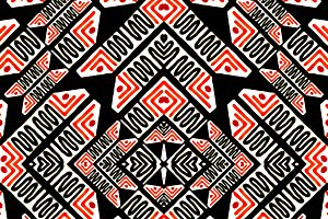 Ethnic Symbols Motif Seamless Patter