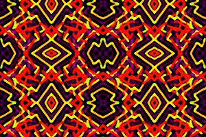 Electric Ethnic Seamless Pattern Mos
