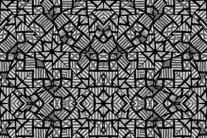 Black and White Ethnic Intricate Sea