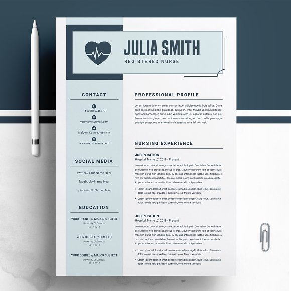 Nurse Resume Medical Template Creative Daddy