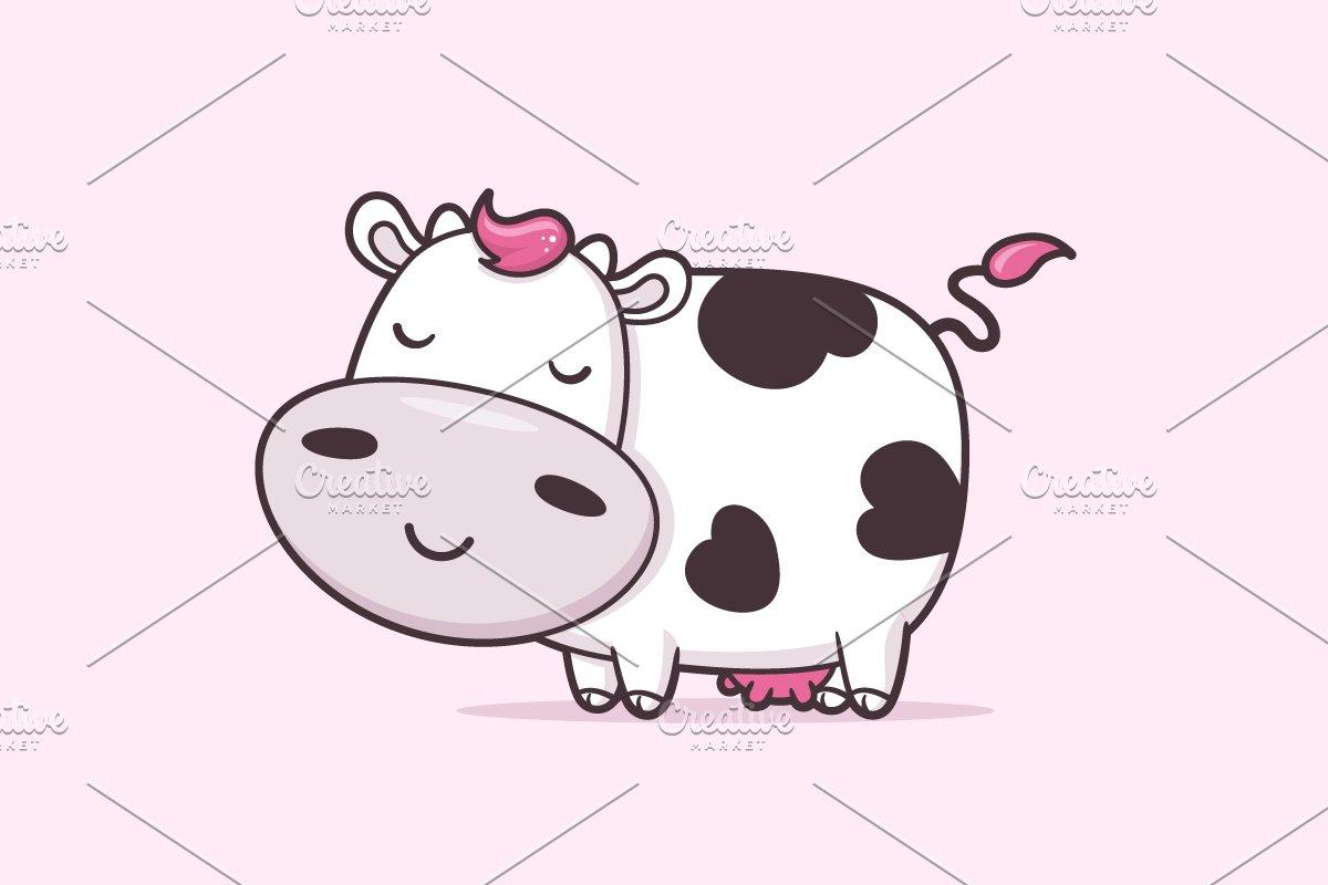 Cow kawaii. Cute