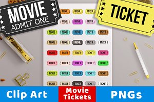 Movie Ticket Clipart, Theater Ticket
