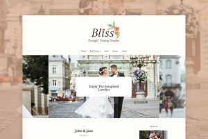 Bliss - Wedding WordPress Blog Theme