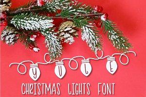 YULE - Christmas Lights Font