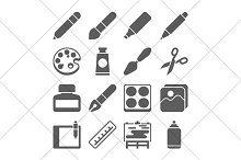 art tools icons