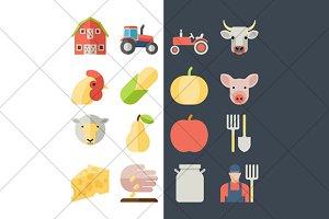 farm flat icons