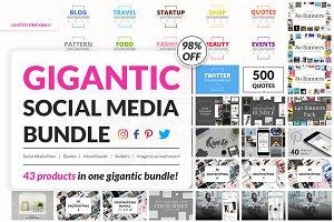 43 in 1 Gigantic Social Media Bundle