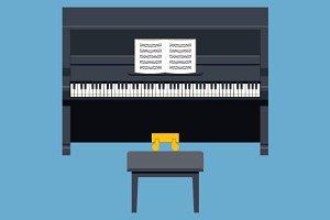 Piano Concept Symbol Flat Design