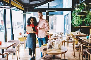 Entrepreneurship, coffee shop owners