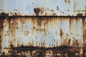 Rust on metal wall background
